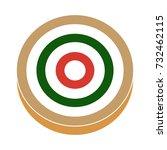 target  flat icon | Shutterstock .eps vector #732462115