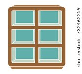 chest of shelves flat icon | Shutterstock .eps vector #732462259