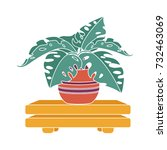plant furniture flat icon | Shutterstock .eps vector #732463069