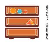 chest of shelves flat icon | Shutterstock .eps vector #732463081