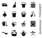 16 vector icon set   iron ... | Shutterstock .eps vector #732465859