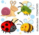 a set of cartoon pictures with...   Shutterstock .eps vector #732467095