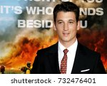 miles teller at the los angeles ... | Shutterstock . vector #732476401