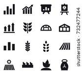 16 vector icon set   graph ... | Shutterstock .eps vector #732477244