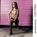 women portrait downtown | Shutterstock . vector #732479881