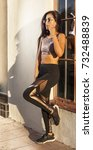 women portrait downtown | Shutterstock . vector #732488839