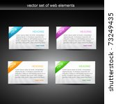 web element display with space... | Shutterstock .eps vector #73249435