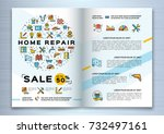 repair house brochure ... | Shutterstock .eps vector #732497161