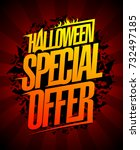 halloween special offer ... | Shutterstock .eps vector #732497185