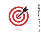 red aim  arrow  idea concept ... | Shutterstock .eps vector #732504301