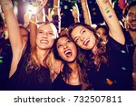 flying colours against cheerful ... | Shutterstock . vector #732507811