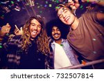 flying colours against male... | Shutterstock . vector #732507814