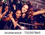 flying colours against portrait ... | Shutterstock . vector #732507865