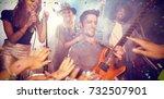 flying colours against... | Shutterstock . vector #732507901