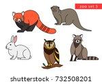 zoo animals vector logo icon... | Shutterstock .eps vector #732508201