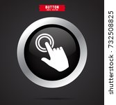 touch icon with finger  | Shutterstock .eps vector #732508825