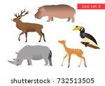 zoo animals vector logo icon... | Shutterstock .eps vector #732513505