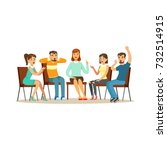 support group therapy ... | Shutterstock .eps vector #732514915