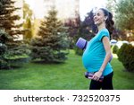a beautiful smiling young... | Shutterstock . vector #732520375