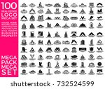 mega set and big group  real... | Shutterstock .eps vector #732524599
