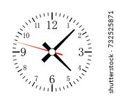 clock icon in flat design.... | Shutterstock .eps vector #732525871