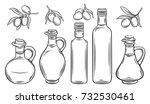 vector glass bottle  jug of... | Shutterstock .eps vector #732530461
