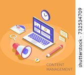content management system... | Shutterstock .eps vector #732534709