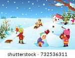 a vector illustration of... | Shutterstock .eps vector #732536311