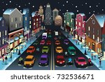 a vector illustration of city... | Shutterstock .eps vector #732536671