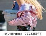 milan   september 20  woman...   Shutterstock . vector #732536947
