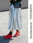milan   september 20  woman... | Shutterstock . vector #732536995