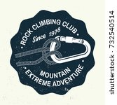 rock climbing club badge.... | Shutterstock .eps vector #732540514
