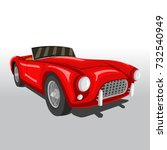 vector illustration of vintage... | Shutterstock .eps vector #732540949