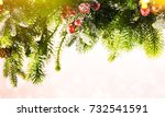 christmas and new year s... | Shutterstock . vector #732541591