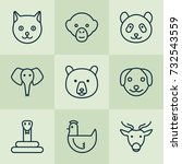 zoo icons set. collection of...   Shutterstock .eps vector #732543559