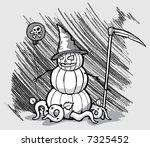 pumpkin man | Shutterstock .eps vector #7325452