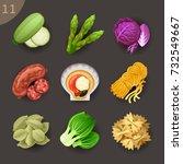 food ingredients set 11   Shutterstock .eps vector #732549667
