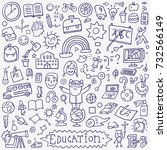 school education   doodle set   ... | Shutterstock .eps vector #732566149