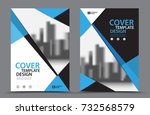 blue color scheme with city... | Shutterstock .eps vector #732568579