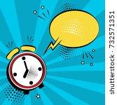 alarm clock with yellow comic... | Shutterstock .eps vector #732571351