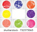 colorful grunge shapes    Shutterstock .eps vector #732575065