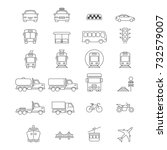 public and commercial transport ...   Shutterstock . vector #732579007