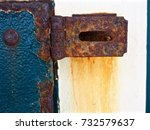 Corroded Rust Covered Blue...