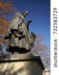 Small photo of Poet Laureate Alfred Tennyson Memorial and Statue in the grounds of Lincoln Cathedral, Lincoln, UK - 6th November 2007
