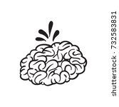 brain vector cartoon | Shutterstock .eps vector #732583831