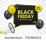 black friday sale poster.... | Shutterstock .eps vector #732585631
