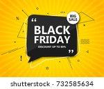 black friday sale  shopping... | Shutterstock .eps vector #732585634