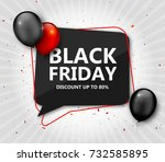black friday sale  shopping... | Shutterstock .eps vector #732585895