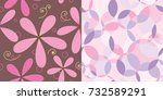 set of two seamless repeat... | Shutterstock .eps vector #732589291