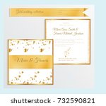 luxury wedding invitation... | Shutterstock .eps vector #732590821